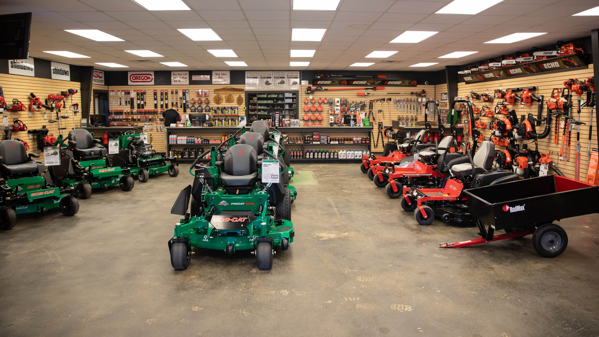 inside the showroom of asc lawn equipment