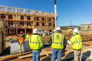 workers supervising the construction of a hotel in cartersville georgia