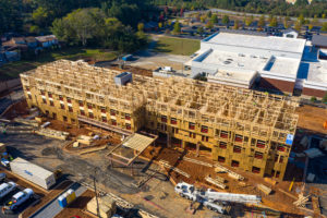 aerial photo of hotel under construction in cartersville georgia