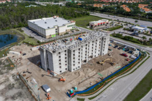 aerial photo of a hotel under construction in florida